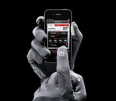 Comfortably work your phone, player, or laptop mouse pad with warm hands thanks to The North Face's gripper palm and click-wheel-compatible thumb and index finger. Gadgets And Gizmos, Cool Gadgets, Dango Wallet, Father's Day Specials, Fleece Gloves, Cool Tech, Good Grips, Hand Warmers, Mp3 Player