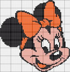"""""""Minnie"""" - Site for Disney Character Charts. Shown in groups....so after you make your selection - scroll down!"""