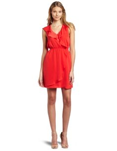 BCBGeneration Women's Red Ruffle Dress