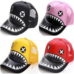 2dc67e1fe6b 2016 Fashion Men Women Shark Tooth Hip Hop Baseball Cap Snapback Cap Family  Kids Straw Adjustable Leisure Sun Cap-in Baseball Caps from Men s Clothing  ...