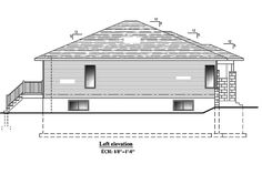 This lovely Bungalow style home with Contemporary influences (House Plan has 1325 square feet of living space. The 1 story floor plan includes 2 bedrooms. Bungalow House Plans, Square Feet, Building A House, Living Spaces, Garage, Floor Plans, Cabin, Flooring, Thoughts