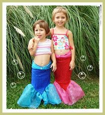 For my little mermaid- easy and cheap!