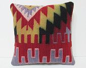 kilim pillow yellow kilim pillow sham red kilim pillow case blue turkish rug society kilim cushion cover artwork kilim pillow cover 20046