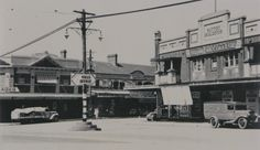 The corner of Victoria and Lyons Roads, Drummoyne (year unknown). Five Dock, Old Images, Historical Pictures, Street View, Victoria, Australia, History, Sydney, Corner