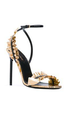 SAINT LAURENT Edie sandals, shop at Farfetch now.