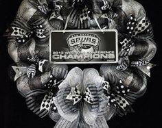 Spurs Deco Mesh Wreath- San Antonio Spurs