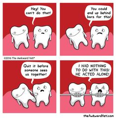 Derpy Tooth breaks some important rules of the jaw The Awkward Yeti comics