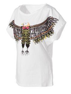 Animal Printed Batwing T-shirt