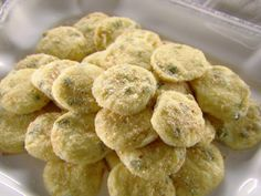 Jalapeno Bites from FoodNetwork.com/Trisha Yearwood. Note: may need extra jalapeno for spice and panko breadcrumbs recommended.