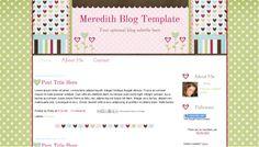 Cute-Pink-Flower-Scrapbook-Premade-Blog-Template-Meredith