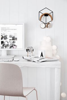 Only Deco Love: My Scandinavian all white home office