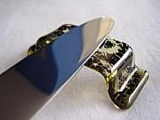 Fused Glass Art - Fused Glass Knife or Chopstick Rests by Michele Palenik