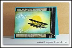 Stampin UP Sky is the Limit Embossed Resist card by Sandi, www.stampinwithsandi.com
