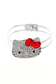 HELLO KITTY BLING HINGE CUFF BRACELET  $12.50
