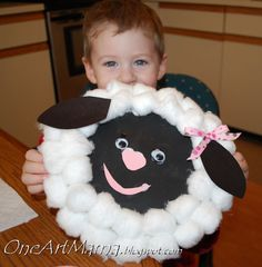 One Artsy Mama: ...Out Like a Lamb?  Craft by Noah :)