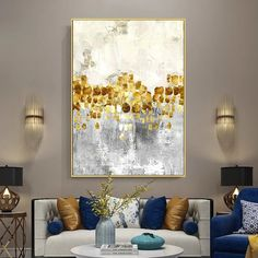 Gold Leaf Acrylic Abstract Paintings On Canvas original art flowers painting extra Large wall pictures quadro wall decor cuadros abstractos Gold Acrylic Paint, Acrylic Painting Canvas, Abstract Canvas, Painting Frames, Abstract Paintings, Wall Paintings, Large Painting, Canvas Art, Large Wall Pictures