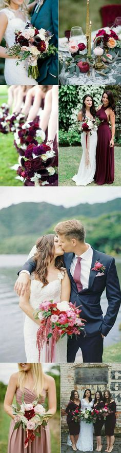 Navy Maroon Light Pink And Ice Blue Wedding Beautiful