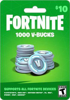Fortnite 5,000 VBucks, 31.99 Physical Card, Gearbox