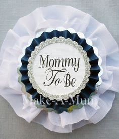 Baby Shower corsage,baby shower favors,Mommy To Be Silver, Baby Girl, Grandma to Be, Baby Shower, Grandma Pin,Mommy To be corsage