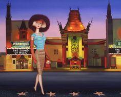 judy ragagli | Barbie in Hollywood Original Art by Judy Ragagli :: PicassoMio