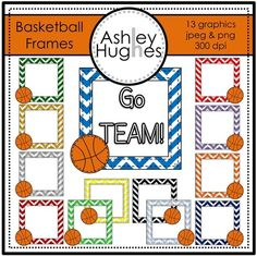FREE Basketball Frames: Graphics for Commercial Use