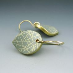 Modern and simple polymer clay earrings on by StonehouseStudio, $35.00