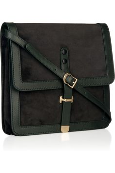 BALLY  Viuky suede and leather shoulder bag