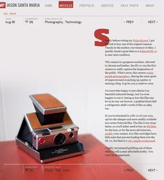 interesting magazine/website layout