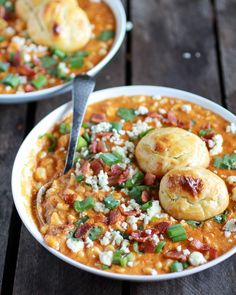 Buffalo Chicken Corn Chowder with Blue Cheese Gougères - Half Baked Harvest: MINUS onions and cilantro . egg replacement for buns Soup Recipes, Chicken Recipes, Cooking Recipes, Dinner Recipes, Yummy Recipes, Chili Recipes, Turkey Recipes, Yummy Food, Chicken Corn Chowder