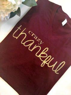 Thanksgiving Shirts Thankful Shirt Thanksgiving by AllGoodThreads