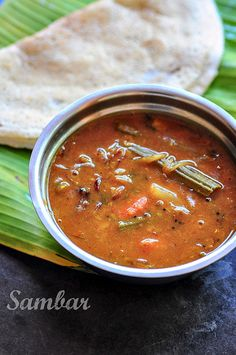 Kerala Sambar Recipe | Kerala Sambar with Vegetables (No Coconut) -- Just ate this for dinner (frozen from Indian grocery version)... YUMM! Will make it myself next time.