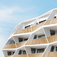 Zig-zag balconies for Ragnitzstrasse 36 apartment block in Graz This.