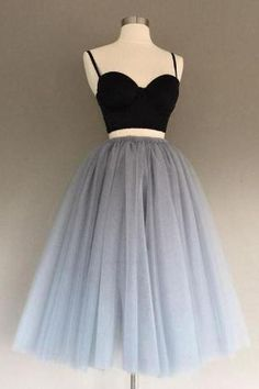Customized Appealing Grey Party Dresses, Wedding Dress Two Piece, Party Dresses Black Wedding Dress Grey Wedding Dress Wedding Dress Two Piece Black Party Dresses Prom Dresses 2019 Prom Dress Black, Two Piece Homecoming Dress, Cute Homecoming Dresses, Two Piece Wedding Dress, Prom Dresses Two Piece, Cute Wedding Dress, Wedding Party Dresses, Black Prom, Dress Party