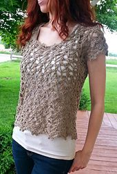 Ravelry: Au Naturel Cropped Top pattern by Mary Jane Hall