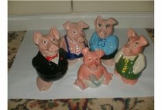Remember these? The Full set of 5 Wade Natwest Pigs