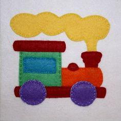 Free pattern for Santa's Workshop Train Applique on WeeFolkArt.com