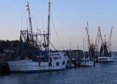 Shrimp Boats on Shem Creek by LouLoussistaGraceLee on Etsy, $22.00