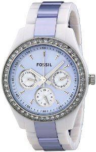 Fossil Womens ES2803 Stella Purple Dial Watch