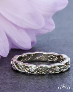 Perfect to pair with a floral engagement ring! #GreenLakeJewelry