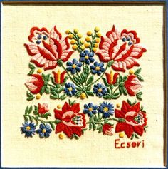 Hungarian Embroidery, Folk Embroidery, Learn Embroidery, Floral Embroidery, Chain Stitch Embroidery, Embroidery Stitches, Embroidery Patterns, Folklore, Embroidery Techniques