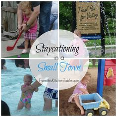 Simple things you can do to have a fun summer even in a small town! | Staycationing in a Small Town - From This Kitchen Table