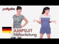 Jumpsuit/ Overall/ Playsuit aus Jersey nähen - mit Passe, Schlitz & Taschen - YouTube