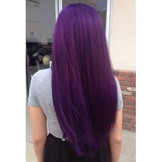 Purple hair (using Pravana Violet).