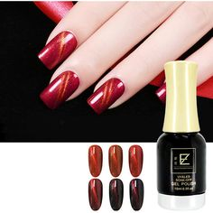 Wine Red Cat Eye UV Nail Gel Polish Varnish Soak Off 3D Magnet... ($10) ❤ liked on Polyvore featuring beauty products, nail care, nail polish, manicure nail polish, shiny nail polish, gel nail polish, gel nail varnish and gel nail care
