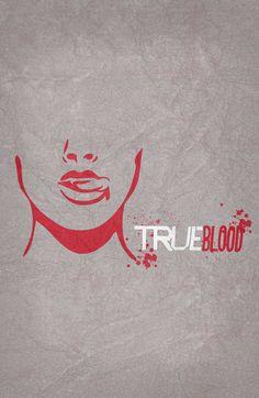 True Blood (2008–2014) ~ Minimal TV Series Poster by Begum Ozdemir #amusementphile