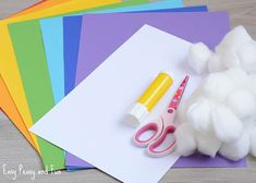 Simple 3D Rainbow Paper Craft