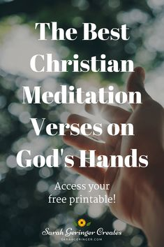 The Best Christian Meditation Verses on God's Hands Do you need God's comfort and strength? Meditate on these verses about his hands to feel secure. Access your free printable … Encouraging Verses, Bible Verses, Bible Quotes, Scriptures, Women Of Faith, Faith In God, Faith Prayer, Christian Living, Christian Faith