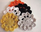 Crochet flower appliques and patterns