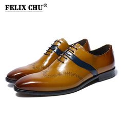 FELIX CHU 2018 Luxury Italian Style Genuine Leather Men Yellow Oxfords With Wingtip Detail Lace Up Party Office Male Dress Shoes-in Formal Shoes from Shoes on Aliexpress.com | Alibaba Group https://timetogetone.myshopify.com/