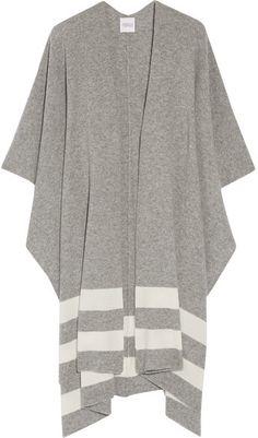 Madeleine Thompson - Towton Striped Cashmere Wrap - Gray